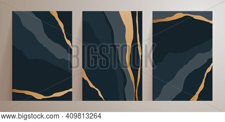 Set Of Minimalist Abstract Aesthetic Illustrations. Universal Artistic Cards Templates. Modern Fashi