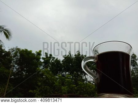 Hot Tea Cup, Masala Tea (masala Chai). Traditional Indian Hot Drink With Milk And Spices.