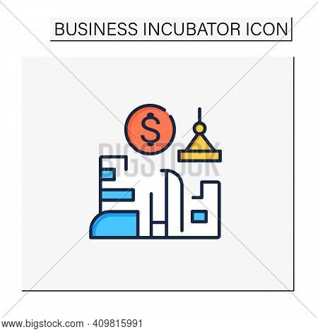 Venture Builder Color Icon. Successfully Producing New Companies, Helps Grow And Succeed. Profitable