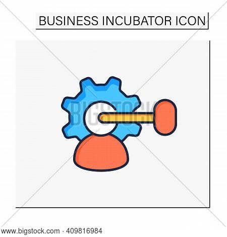 Intellectual Property Management Color Icon. Maximizing Profitability. Protection Of Intangible Crea