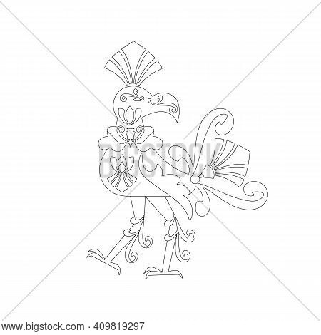 The Mythical Bird Hong. Pantheon Of Thai Deities. The Concept Of The Sacredness Of The Ideas Of Sout
