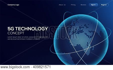 Global Network Connection. World Map Asia Continent Point Line Worldwide Information Technology Data