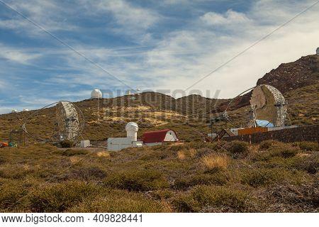 La Palma, Spain - November 1, 2016: Major Atmospheric Gamma-ray Imaging Cherenkov, Or Magic Telescop