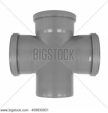 Plumbing And Sewerage - Triple Socket 90 Degree Pvc Fitting Sewerage System Three Mouth Reduction Is
