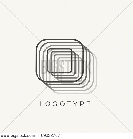 Letter O Of Outline Stripes, Blend Effect Number O For Monogram And Logo Template, Contour Line Type