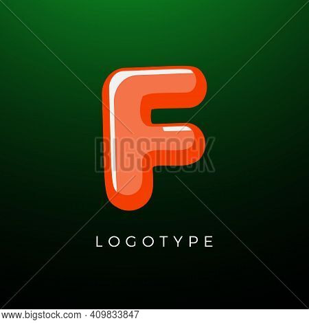 3d Playful Letter F, Kids And Joy Style Symbol For School, Preschool, Comic Book, Kids Zone Decorati