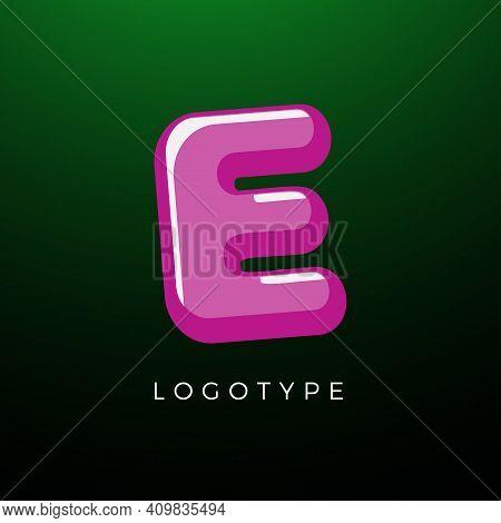 3d Playful Letter E, Kids And Joy Style Symbol For School, Preschool, Comic Book, Kids Zone Decorati