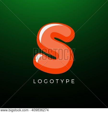 3d Playful Letter S, Kids And Joy Style Symbol For School, Preschool, Comic Book, Kids Zone Decorati