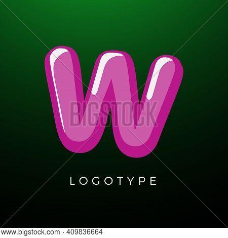3d Playful Letter W, Kids And Joy Style Symbol For School, Preschool, Comic Book, Kids Zone Decorati