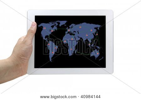 social networking diagram on touch screen