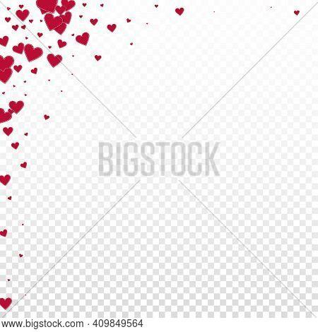 Red Heart Love Confettis. Valentine's Day Corner O