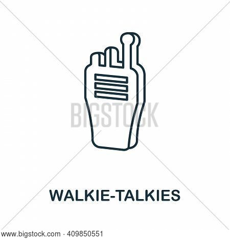 Walkie-talkies Icon. Simple Element From Police Collection. Creative Walkie-talkies Icon For Web Des