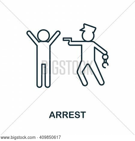 Arrest Icon. Simple Element From Police Collection. Creative Arrest Icon For Web Design, Templates,