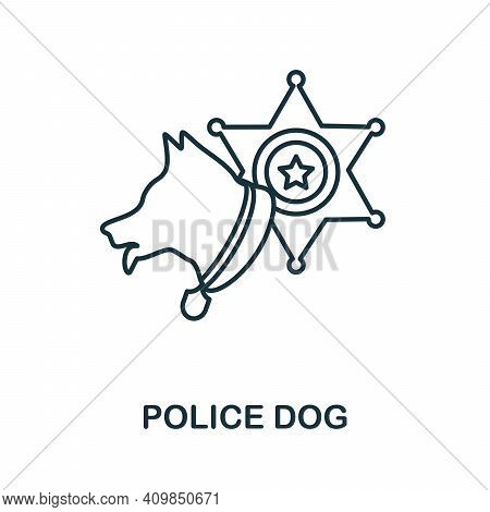 Police Dog Icon. Simple Element From Police Collection. Creative Police Dog Icon For Web Design, Tem