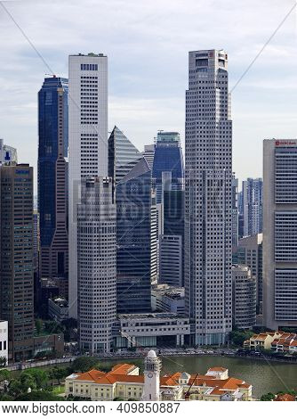 Singapore - 03 Mar 2012: The View On Esplanade, Singapore