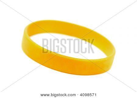 Silicone Wristband, Bracelet On The White