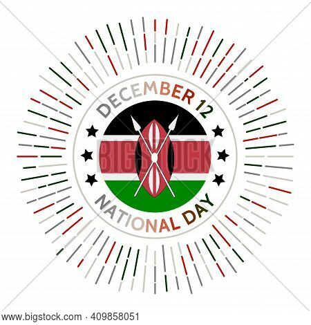 Kenya National Day Badge. Independence From The United Kingdom In 1963. Celebrated On December 12.
