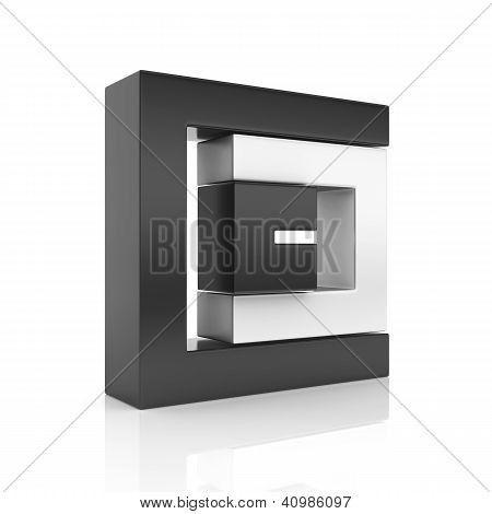 Abstract Black Business Symbol With 3 Elements