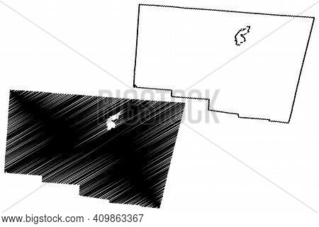 Clark County, Ohio State (u.s. County, United States Of America, Usa, U.s., Us) Map Vector Illustrat
