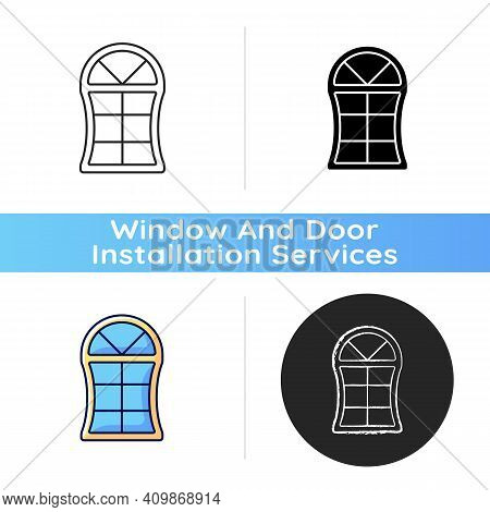 Custom Windows Icon. Fitting Design Into Window Opening. Unique, Distinctive Styles And Features. Sp