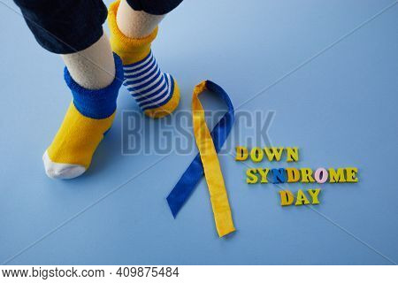 World Down Syndrome Day Background. Down Syndrome Awareness Concept