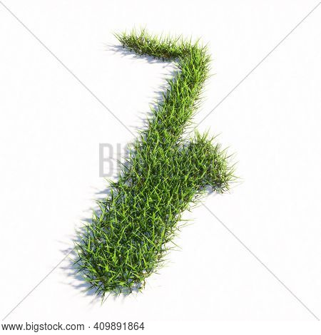 Concept or conceptual green summer lawn grass symbol isolated white background, sign of saxophone. 3d illustration metaphor for music, concert, accoustic, festival, jazz, lifestyle and entertainment