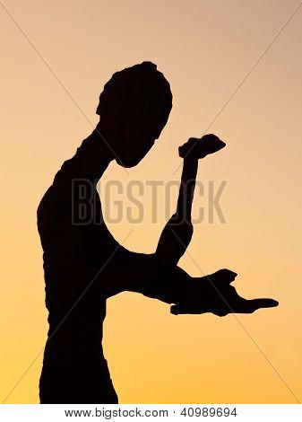 Hammering Man Sculpture In Frankfurt