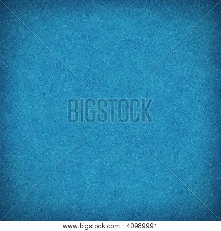 Blue Leather Background Or Texture