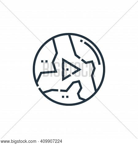 world icon isolated on white background from videoblogger collection. world icon thin line outline l