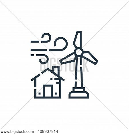 wind turbine icon isolated on white background from smarthome collection. wind turbine icon thin lin