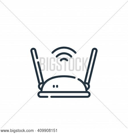 wifi router icon isolated on white background from database and servers collection. wifi router icon