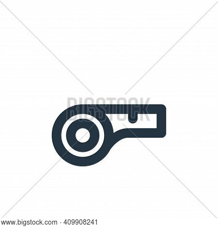 whistle icon isolated on white background from sport collection. whistle icon thin line outline line