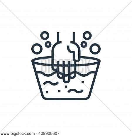 washing hands icon isolated on white background from laundry collection. washing hands icon thin lin