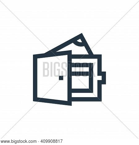 wallet icon isolated on white background from payment collection. wallet icon thin line outline line