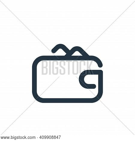 wallet icon isolated on white background from shopping collection. wallet icon thin line outline lin