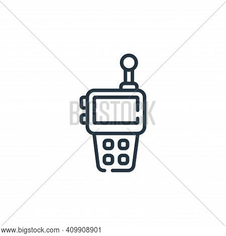 walkie talkie icon isolated on white background from children toys collection. walkie talkie icon th