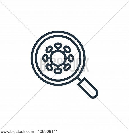 virus search icon isolated on white background from pandemic novel virus collection. virus search ic
