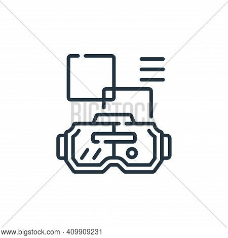 virtual reality glasses icon isolated on white background from robotics collection. virtual reality