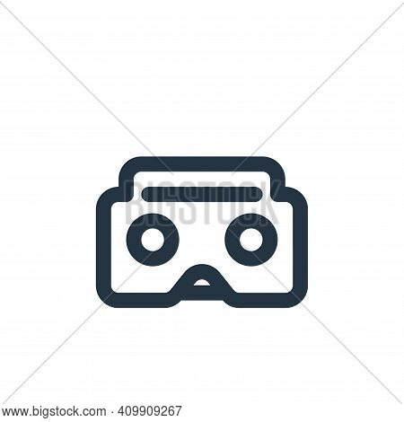 virtual reality icon isolated on white background from video collection. virtual reality icon thin l
