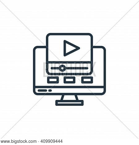 video icon isolated on white background from stay at home collection. video icon thin line outline l