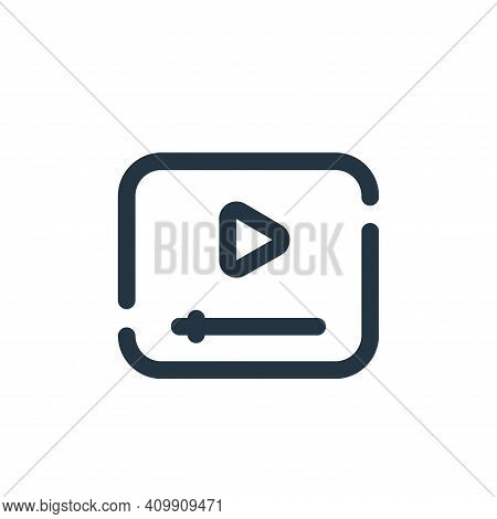 video icon isolated on white background from seo collection. video icon thin line outline linear vid