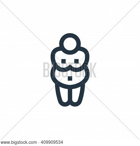 venus of willendorf icon isolated on white background from history collection. venus of willendorf i