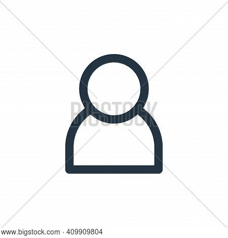user icon isolated on white background from multimedia collection. user icon thin line outline linea