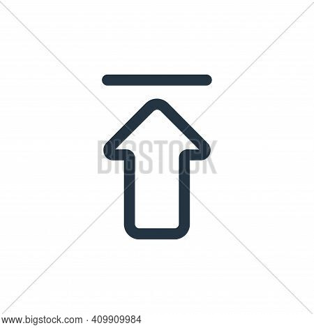 upload icon isolated on white background from interface collection. upload icon thin line outline li
