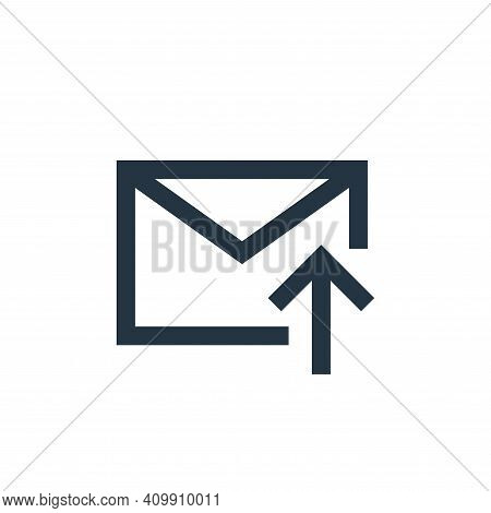upload icon isolated on white background from email collection. upload icon thin line outline linear