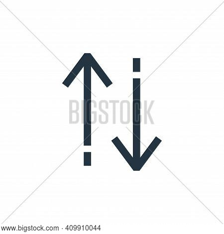 up down icon isolated on white background from arrows collection. up down icon thin line outline lin