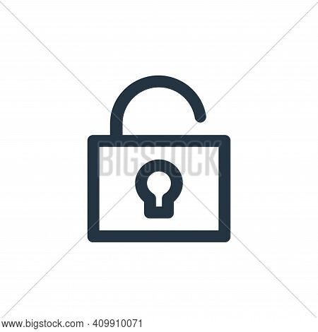 unlock icon isolated on white background from user interface collection. unlock icon thin line outli