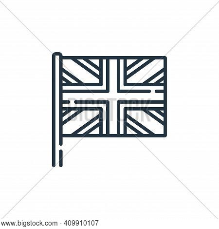 united kingdom icon isolated on white background from england collection. united kingdom icon thin l