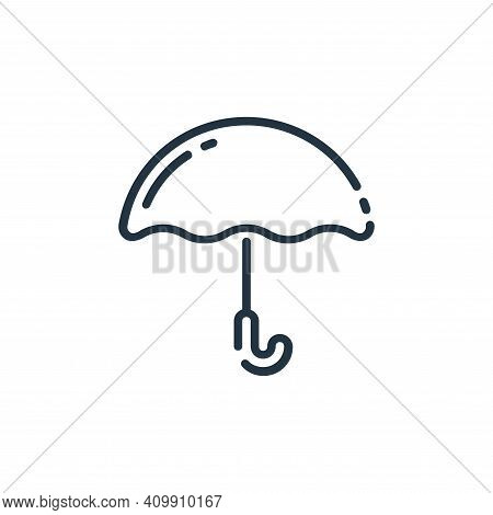 umbrella icon isolated on white background from user interface collection. umbrella icon thin line o
