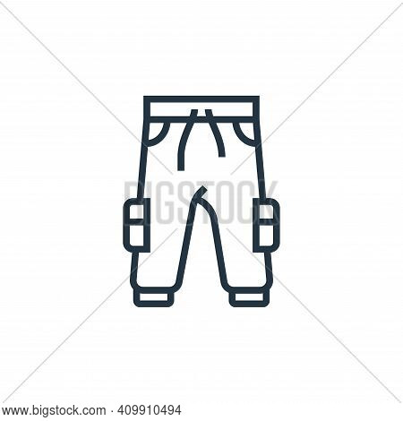 trousers icon isolated on white background from sewing equipment collection. trousers icon thin line